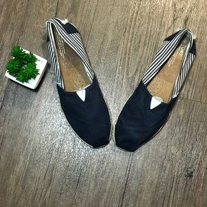 NWOT TOMS | Espadrilles Blue and White Stripe | 12